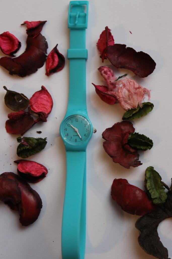 Часы Swatch с длинным ремешком (голубые) | Часы